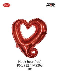 Hook heart(red)