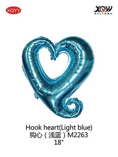 Hook heart(Light blue)
