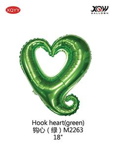 Hook heart(green)