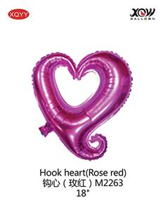 Hook heart(Rose red)