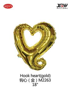 Hook heart(gold)