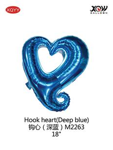 Hook heart(Deep blue)